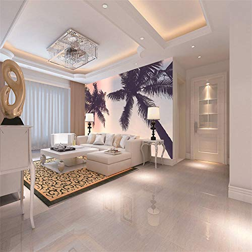Mural Beach Coconut Tree 3D Photo Murals for Living Room and Bedding Room 3D Wall Murals Fresco Home Decor-250X175Cm