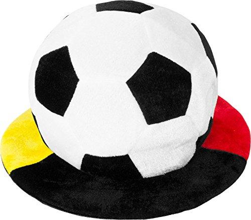normani 1, 2, 5 oder 10 Deutschland Fußball Mütze Schlapphut mit Krempe Fußballhut in Deutschlandsfarben Farbe 1 Stück