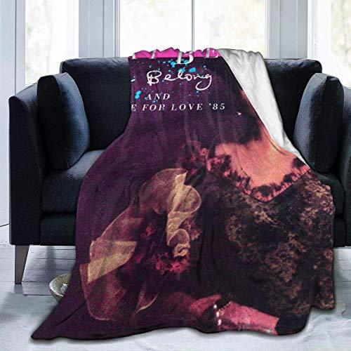 We Belong Pat Benatar Manta de Microfibra Ultra Suave para sofá/Sala de Estar/Mantas de Felpa acogedoras de Invierno cálido para Adultos o niños