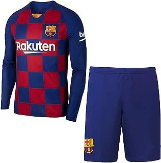 Herren Fu/ßball Trikot Fu/ßballuniform Alle Gr/ö/ßen Kinder Erwachsene Sport Fu/ßball Kleidung Anzug-5-S # 10 Lionel Messi Barcelona Trikot