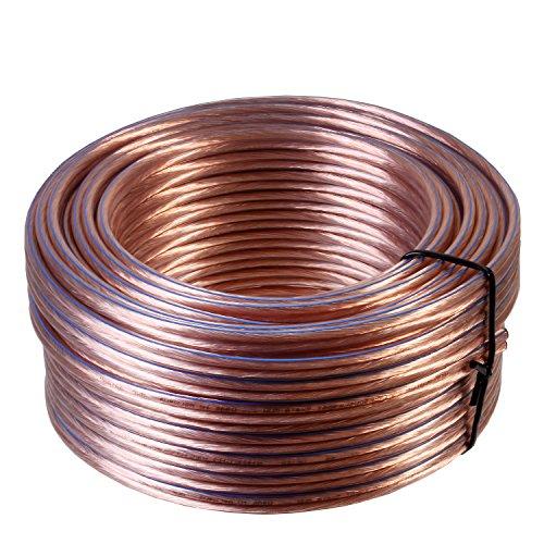 Misterhifi kabel, hifi-zubehör & mehr 10 m Lautsprecherkabel 2 x 4,0 mm², Litze: 2 x 132 x 0,2 mm, transparent, 99,99{ba21ec399ab691017e92349407d32b21950dca84733228d9424063c3a601c296} OFC Kupfer Made in Germany