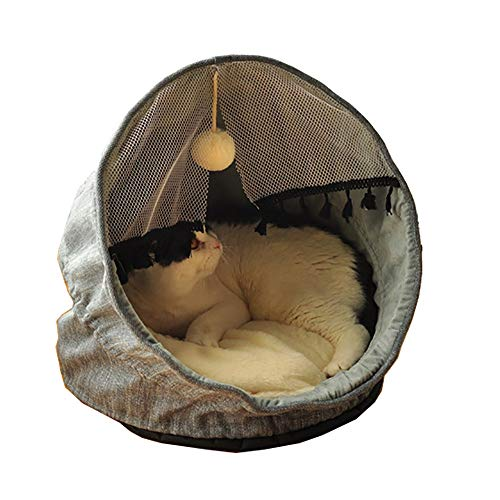 MAATCHH Pet Tent Cat All Seasons Universal Foldable Kennel Pet Nest Cat House Semi-closed Thick Warm (Color : Blue, Size : 43x45x45cm)
