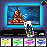 EveShine Neon Accent LED Strips Bias Backlight RGB Lights with Remote Control for HDTV, Flat Sc…