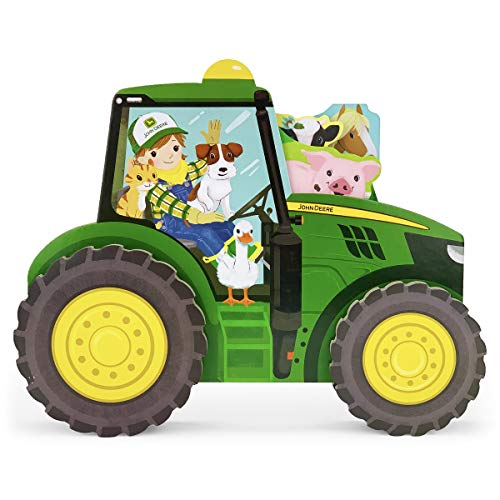 John Deere Tractor Tales - Wheeled Board Book Set  3-Book Gift Set With Rolling Tractor Slipcase for Toddlers Ages 1-5 (John Deere Rolling Tractor Toy Book)