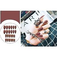 ACHICOO ネイルアートマット 24個 ヒントフォーム マニキュア アート 偽 爪先 ファッション サロン F91マット