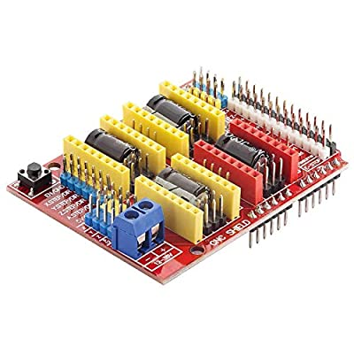 AZDelivery CNC Shield V3 Development Board for A4988 Stepper Motor Driver for 3D Printer and Arduino icluding eBook