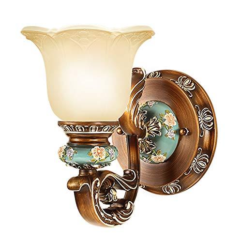 Décoration- Salon Allée Fond Mur En Fer Forgé Rétro Lampes Chambre Lampe De Chevet