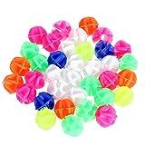 VORCOOL 72 STÜCKE Runde Fahrrad Rad Speichen Perlen Leucht Kunststoff Clip Speichen Bead Fahrrad Perlen Draht Perlen Dekorationen (Mix Farbe)