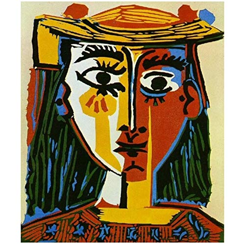 feitao Pablo Picasso -Cubismo Wall Art Decor Poster e Stampe Wall Art Canvas Painting Living Room Home Decor-60x70cm Senza Cornice