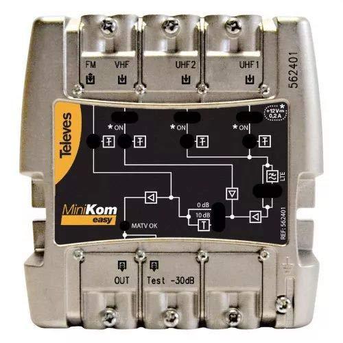 Televes - Amplificador minikom matv 4e/1s easyf