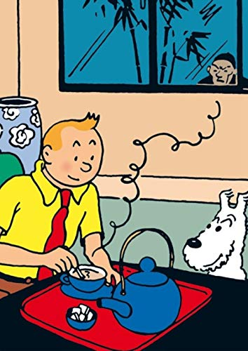 HZDXT® Puzzle 1000 Stück, Zeichentrickfilm Holzpuzzles, DIY Creative Abstract Game Puzzle Toy - Abenteuer von Tim und Struppi und Hund