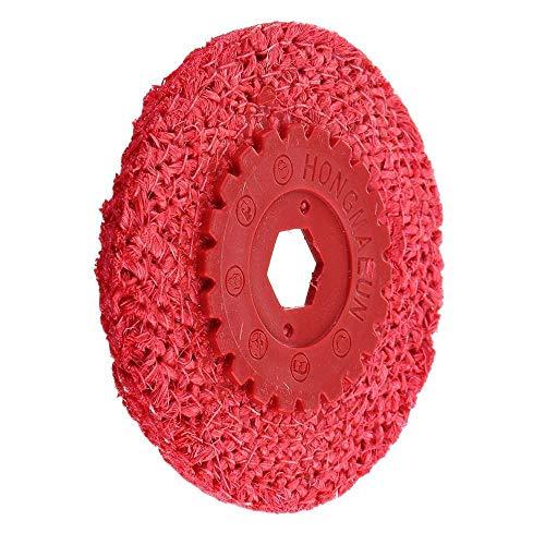 Tivivose New Red rostfreies Stahlseil Schwabbel-Polierwerkzeugschleifmaschine Grober Schleif