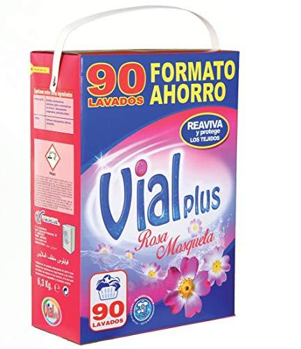 Vialplus wasmiddel, 90 wasbeurten, roze karabijnhaak - 6300 g