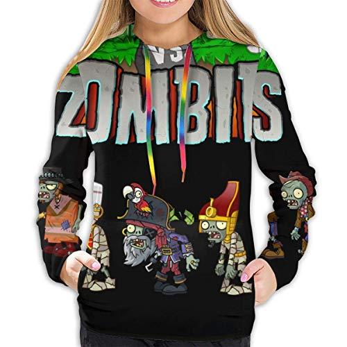 EYSKJ Hoodie Capucha Plants Vs. Zombies Women Pullover Sudadera 3D Printed Sweatshirt Long Sleeve Hooded