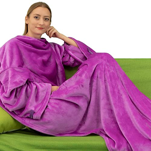 Wearable Blanket with Sleeves for Adults Now $11.49
