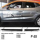Listones de protección laterales negros para Seat Arona SUV Combi a partir de año de construcción 10.2017- F22 (370002211)