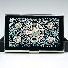 Schwarz mit Arabeske in Perlmutt-Optik Antique Alive Brief/öffner Stahl Blumenmuster