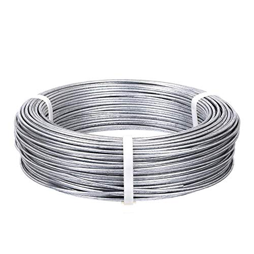 4 Sizes 3.5mm, 4mm, 5mm, 6mm White - Black 6SHINE 1 Roll of Anodized Aluminium Bonsai Training Wire,Long Lasting Bonsai Wire