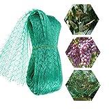 Umisu - Rete di protezione per uccelli da giardino, alberi e frutti, rete in maglia da giardino, 5 x 20 m, colore: Verde