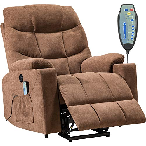 Lift Chair Electric Recliner with Side Pocket and Cup Holders, USB Charge Port&Massage Remote Control for Elderly Massage Chair Power Electric Recliner Wall Hugger Recliner Chair Living Room Chair