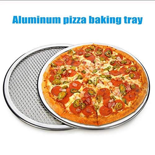 Hyiiw 2 Teile/Satz Aluminiumlegierung Pizza Net Runden Dicken Netto Bratpfanne Backblech Küchenhelfer
