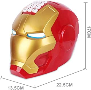 LIANGRAN Hucha Dinero Monedas Cartoon Iron Man Piggy Bank Kids Money Box Cash Coin Safe Saving Box Jar Alcancias Robot Deposit Machine Moneybox For Children, Red