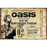 NOT Oasis Band Metall Wand Poster Kunstwerk Jahrgang