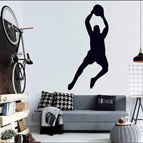 yaonuli Wandaufkleber Basketball Sport Wanddekoration Player Boy Vinyl Dekoration Abnehmbare Aktive Sport Wandbild 43x120 cm