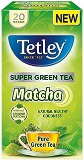 Tetley Super Green Matcha Pure Tea Bags - 20 per pack (0.09lbs)