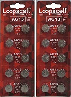 LOOPACELL LR44 AG13 357 303 SR44 Battery 1.5V Button Coin Cell 20 Batteries