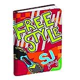 SEVEN Novidea SJ Gang - Agenda escolar de 10 meses, sin fecha, color rojo, estilo libre