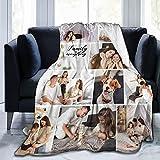 Fotodecke mit Eigenem Fotos und Namen, Moorcowry Personalisierte Decke Super Weiche Fotocollage Decke Personalisiertes Fotogeschenk für Freunde, Familie, Liebhaber (9 Foto,150x200cm)