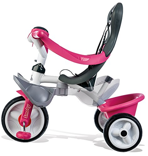 Smoby - 741101 - Tricycle Baby Balade 2 - Tricycle Evolutif avec Roues Silencieuses - Dispositif Roue Libre - Rose
