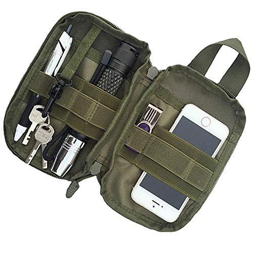 Kyrio Tactical Molle Pouch Nylon Militär EDC Small Waist Pouch Pack Tasche für Telefon Outdoor Sporttaschen Grün