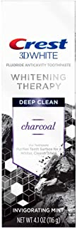 Crest Crest 3D White Whitening Therapy Charcoal Deep Clean Fluoride Toothpaste, Invigorating Mint, 4.1 ounce, 0.26 Pound