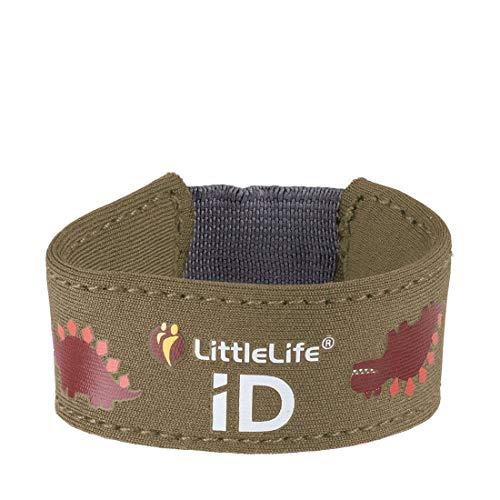 LittleLife Unisex – Volwassenen Safety Id zweet- en armbanden, Dino, One Size