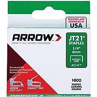 Arrow Fastener 214 純正 JT21/T27 1/4インチ ステープル、1,000個 100 Pack