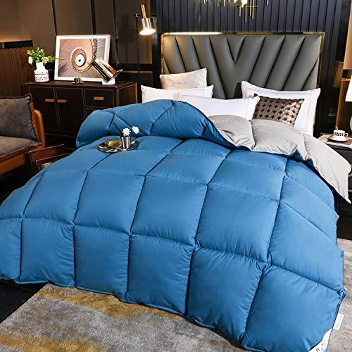 CHOU DAN Duvet Double Bed,Quilt Duvet Thickened Winter Quilt Spring And Autumn Quilt Core Goose Down Quilt-Grey Blue_150x200cm 6 Kg