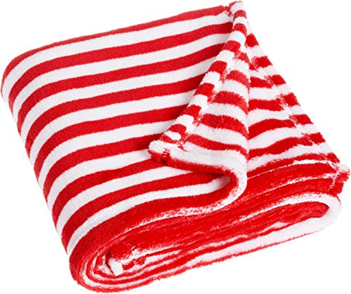 Playshoes Baby und Kinder Fleece-Decke, vielseitig nutzbare Kuscheldecke für Jungen und Mädchen, 75 x 100 cm, gestreift