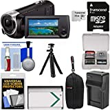 Sony Handycam HDR-CX405 1080p HD Video Camera Camcorder with 32GB Card + Case + Battery & Charger + Flex Tripod + Kit