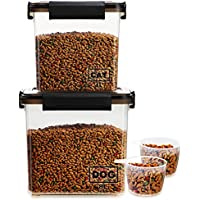 2-Pack Lockcoo Airtight Dog Food Storage Container with Measuring Cup