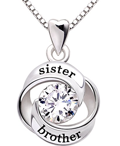 brother sister necklace - 2
