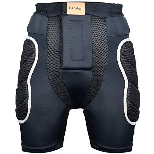 BenKen Protektorenhose Herren/Damen Schutzhose Gepolstert Protektorhose Hüfte Protektor Widerstand Atmungsaktive Sporthose für Eislaufen Skaten Skifahren Skater (XL)