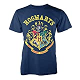 Harry Potter - Camiseta - camisa - para hombre azul Crest -Navy Blue X-Large