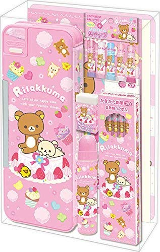 San-X Rilakkuma Stationery 7 Piece Set / School Supply Gift Set (GS14201)