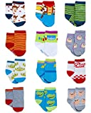 Disney Baby Boys? Socks - 12 Pack Mickey Mouse, Lion King, Toy Story (Newborn/Infant), Size 0-6 Months, Woody/Buzz Lightyear & Friends