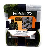 Halo Infinite Throw Blankets 40 x 50 inches Grey Plush Throw Soft and Cozy Gamer Blanket Great Gift or Travel Blanket
