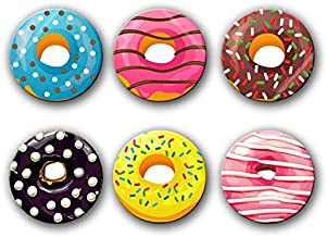 CrazyInk Donut Fridge Magnets (1.8x1.8) Inch