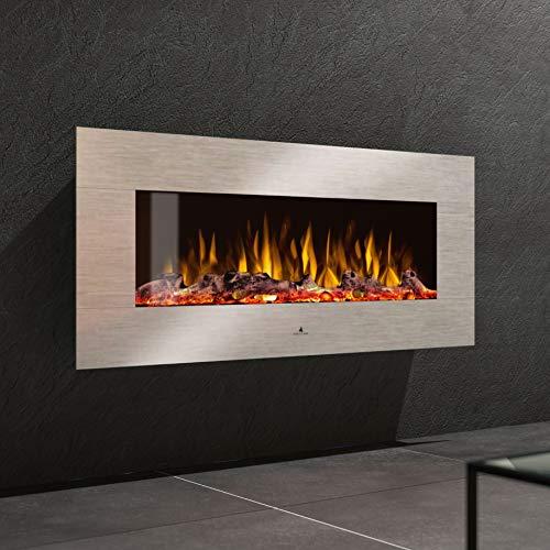 Noble Flame Vegas 1070 Edelstahl - Elektrokamin Wandkamin Kaminofen Kamin - Wandmontage Fernbedienung - Verschiedene Breiten