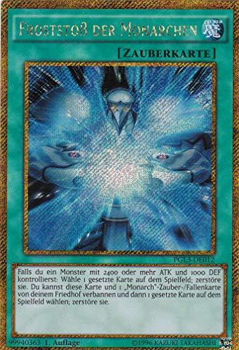 PGL3-DE012 - Froststoß der Monarchen - Gold Secret Rare - Yu-Gi-Oh - Deutsch - 1. Auflage - LMS Trading